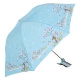 高密碰击布三折超轻晴雨伞,孩提时光303E,白色